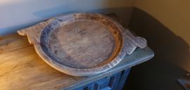 Oude teak houten schaal