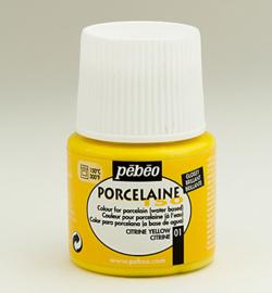 Pebeo porcelaine verf geel  45 ml