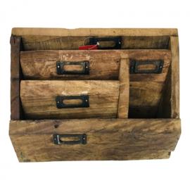 Stoere houten organizer