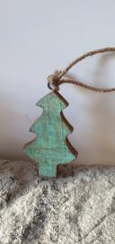 Houten kerstboomhanger