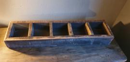 Stoere houten 5 vaks bak
