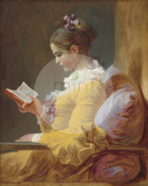 YOUNG GIRL READING - MINT BY MICHELLE DECOUPAGE PAPIER -A3