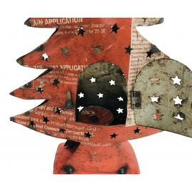 Iron vintage tree rood h 40 cm