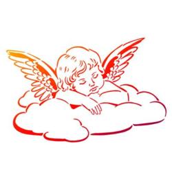 Wolken engel A4