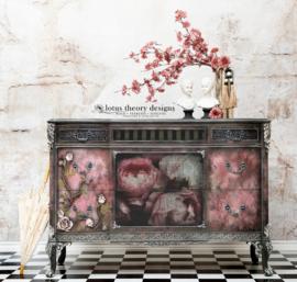 MOODY FLORALS - MINT BY MICHELLE DECOUPAGE PAPIER-A3