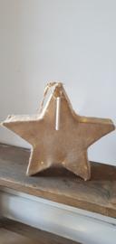 Jute ster met verlichting