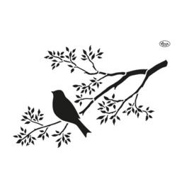 Vogel op tak A4