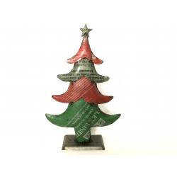Stoere industriële metalen kerstboom hoogte 45 cm