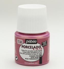 Pebeo porcelaine verf shimmer pink  45 ml
