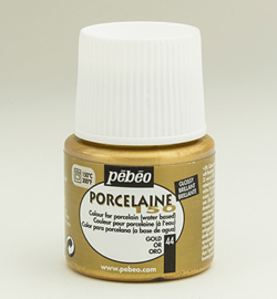 Pebeo porcelaine verf gold  45 ml