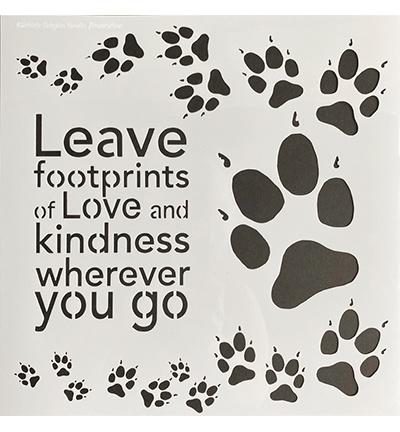 Leave footprints 30x30cm