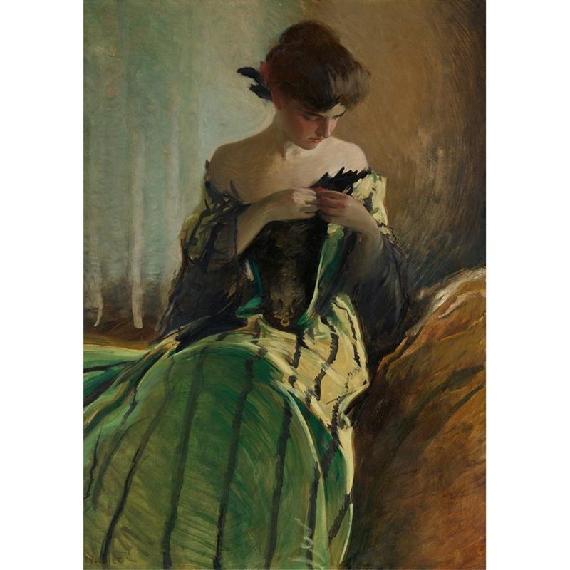 STUDY IN BLACK & GREEN - MINT BY MICHELLE DECOUPAGE PAPIER-A1