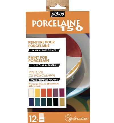 NIEUW-Pebeo porcelaine verf set 12 x 20ml No 1