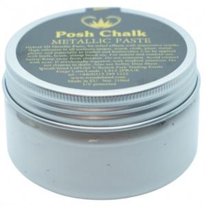 Posh Chalk metalic smooth pasta metalic white - in Textiel & Handwerken