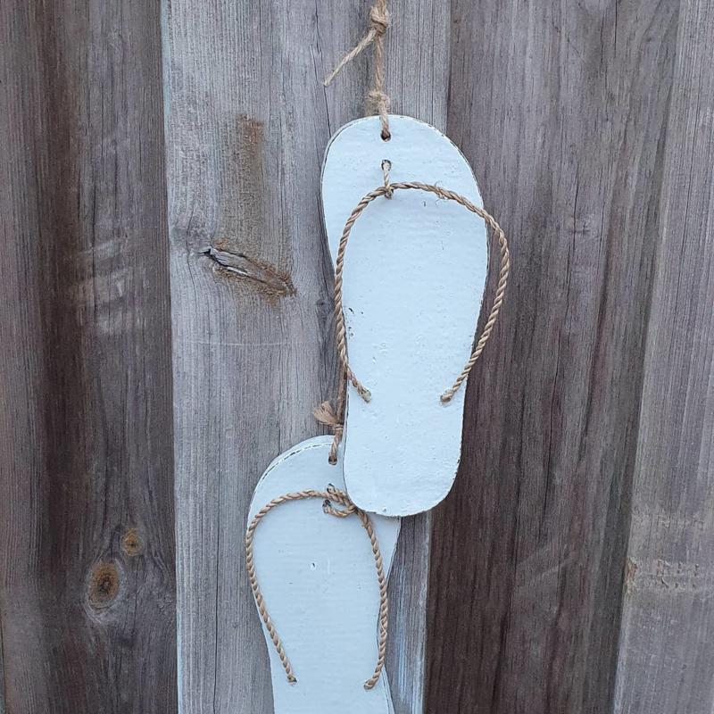 Summervibes houten slippers