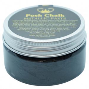 Posh Chalk metalic smooth pasta black carbon - in Textiel & Handwerken