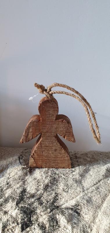 Houten kersthanger Engel