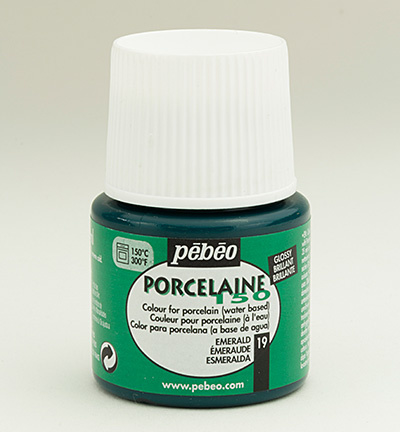 Pebeo porcelaine verf emerald 45 ml - in Verf