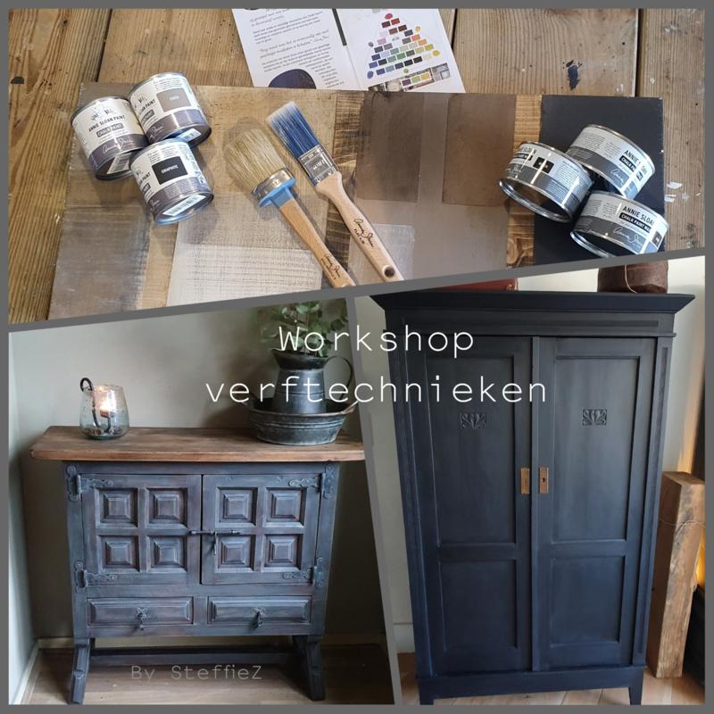 06-09-2021  19:30-22:15 workshop verftechnieken 1 Annie Sloan Chalk Paint