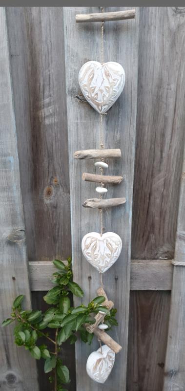 Tuinhanger hart met sloophout