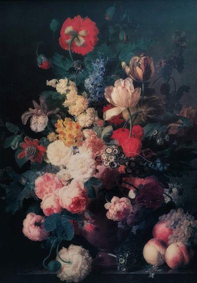 RENAISSANCE FLOWERS mint by michelle decoupagepapier A3