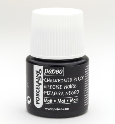 Pebeo porcelaine verf zwart 45 ml