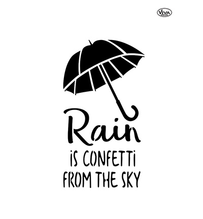 Rain is confetti from the sky A3