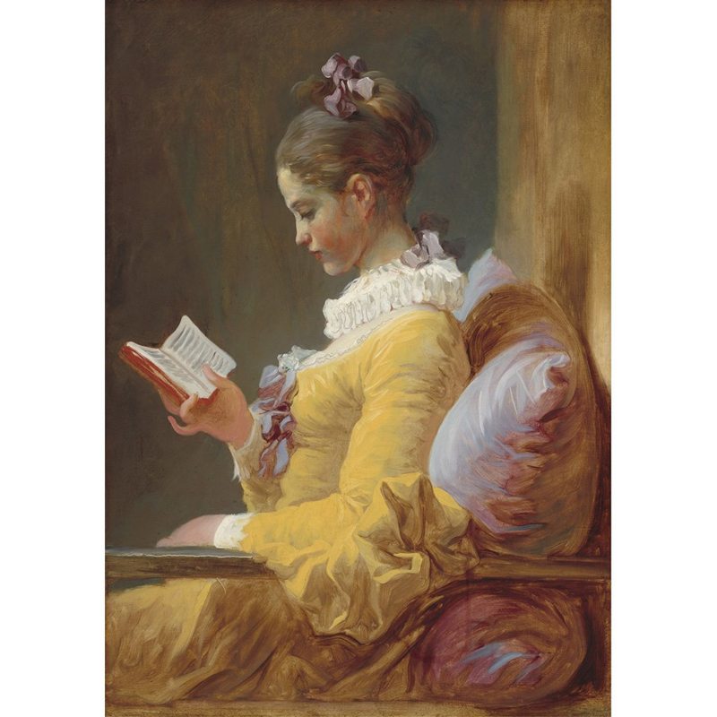 YOUNG GIRL READING - MINT BY MICHELLE DECOUPAGE PAPIER - A1