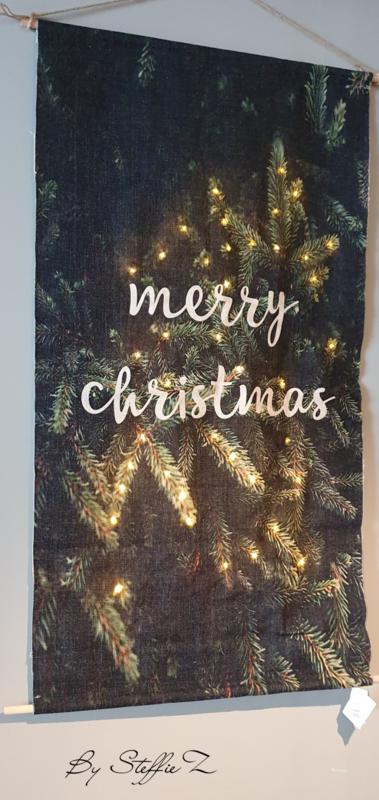 Kerstdoek met verlichting 40x60cm