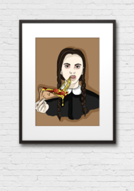 Print: Wednesday Addams Pizza