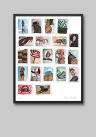 Collageprint: Zeeland