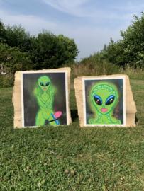 Origineel schilderij: Alien 001