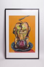 Schilderij: Beer can chicken