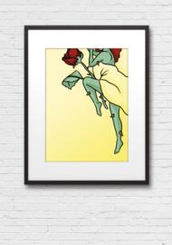 Print: Slapende roos