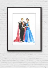 Print: Willem-Alexander en Maxima