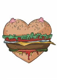 Print: Titty burger