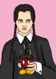 Print: Wednesday Addams