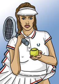 Print: Tennis meisje