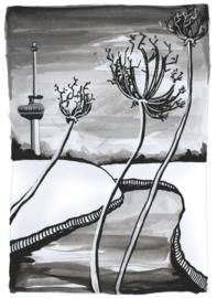 Originele tekening: Berenklauw onder de rook van Rotterdam