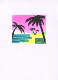 Originele tekening: Strand