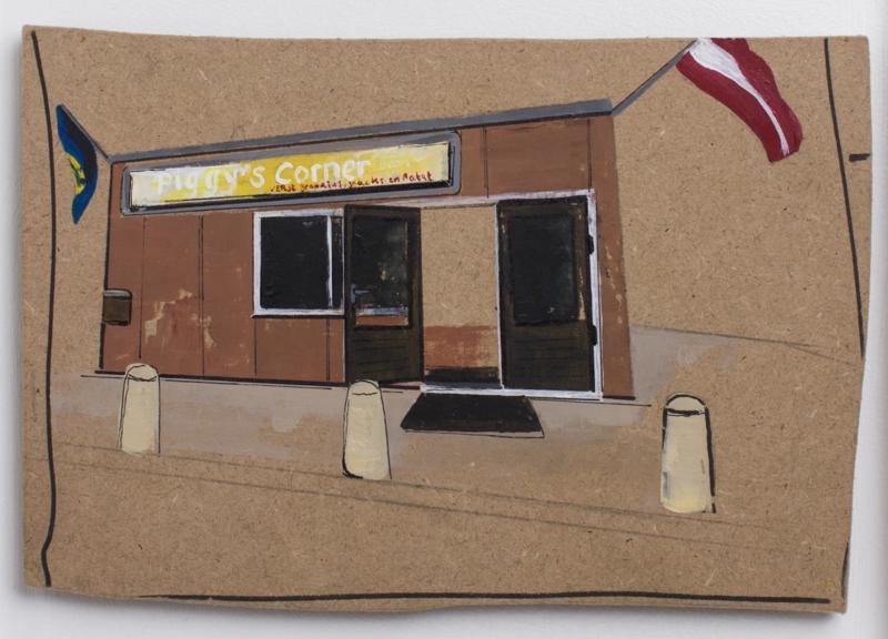 Schilderij: Piggy's Corner