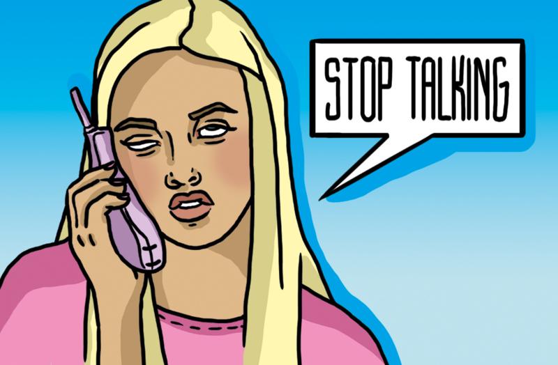 'STOP TALKING' visitekaartjes