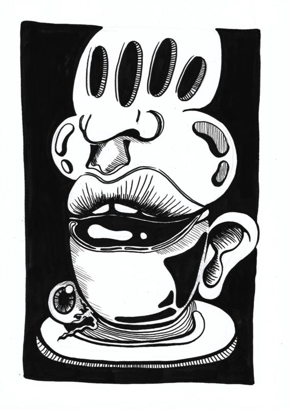 Originele tekening: Tea time