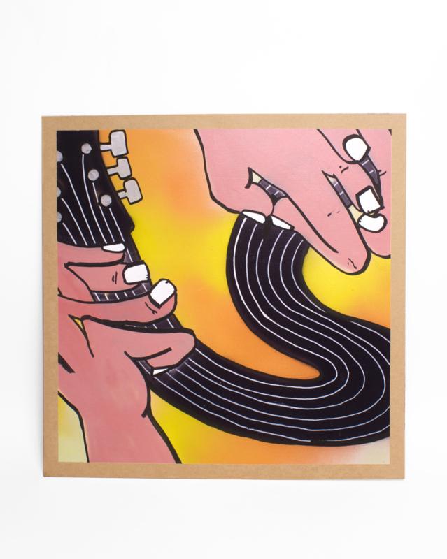 Schilderij: Gitarist