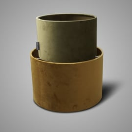 SORT. OF LAMPSHADE CYLINDER GREEN D.25 H.16