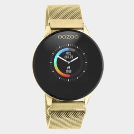 OOZOO Smartwatches - unisex - metalen mesh band gouden met goud