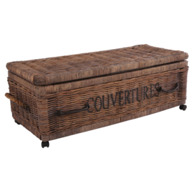 Chest under bed with wheels 'Couvertures'