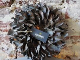 Palm Petal Wreath Dark Grey-Wash 25 CM
