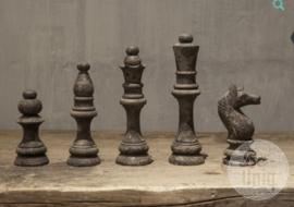 Set 5 schaakstukken | Grey finish