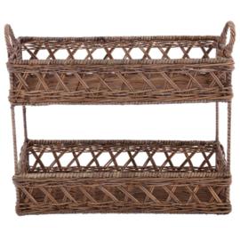 Landelijk Brocant Bathroom rack two tiers